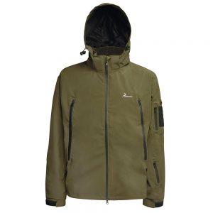 chaqueta verde impermeable